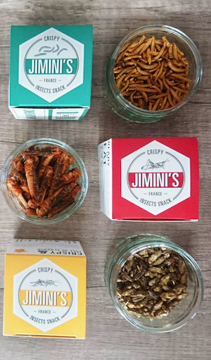 Jimini's, edible insect snacks