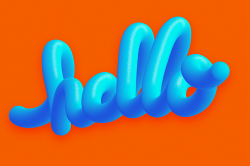 HELLO, typography by Pat Simmons