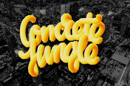 CONCRETE JUNGLE, typography by Pat Simmons