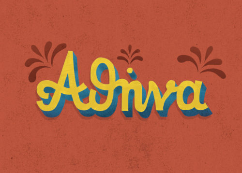 athens postcards, monoline, seta zakian, athina, hand lettering, lettering design, retro lettering