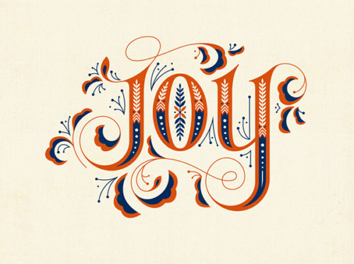 clairice gifford JOY, lettering design