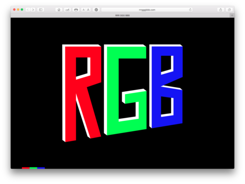 rrrgggbbb website, interactive sites, RGB color, interactive, funny website, Red, Green, Blue