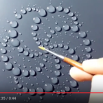 Artwork created by water drops