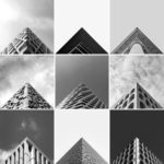 Symmetrical photographs of buildings for Geometry Club
