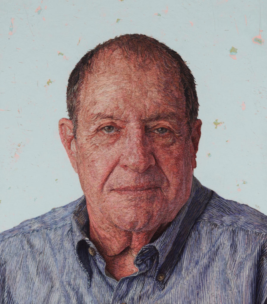 Embroidered portraits by Cayce Zavaglia