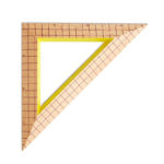 Wooden ruler triangles