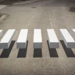 3-D pedestrian crossing in Iceland