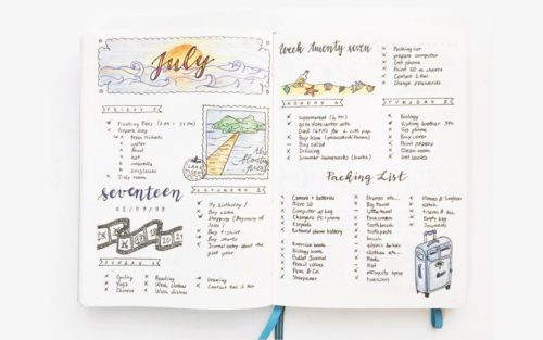 Examples of bullet journals