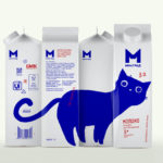Milgrad's playful milk packaging
